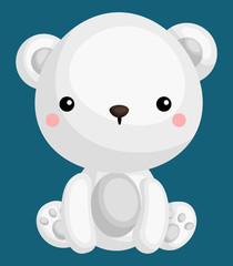 a vector of a cute and adorable polar bear