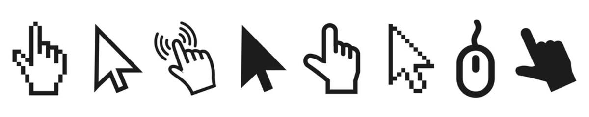 Set of flat modern cursor icons – vector