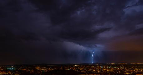 Gewitter über Vodice/ Kroatien