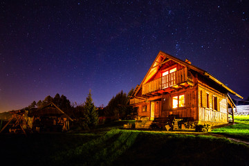 chatka nocą