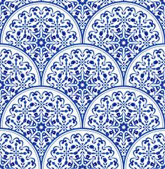 porcelain blue pattern