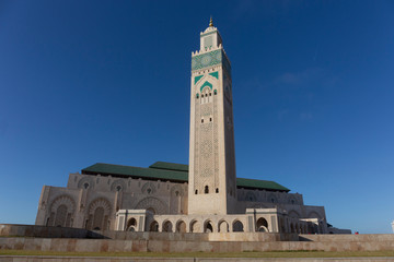 The Hassan II Mosque is a mosque in Casablanca, Morocco. It is the largest mosque in Morocco