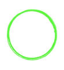 Abdruck Kreis mit grüner Farbe