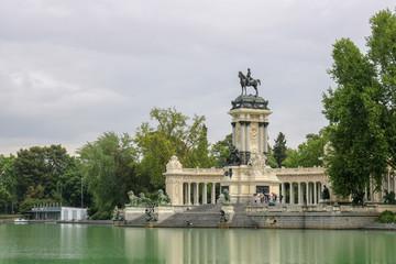 Monument to Afonso XII - Park El Retiro Madrid Spain