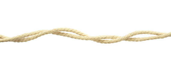 Beige cotton twisted ropes