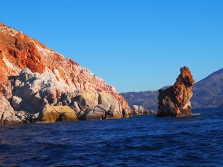 Rock formations in the sea