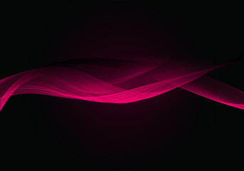 Abstract background waves. Black and pink abstract background