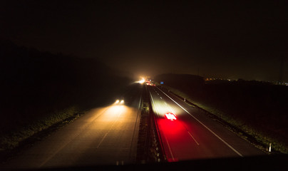 Autobahn nachts 7