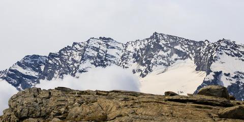 paesaggio alpino al colle del Nivolet, nel parco nazionale del Gran Paradiso