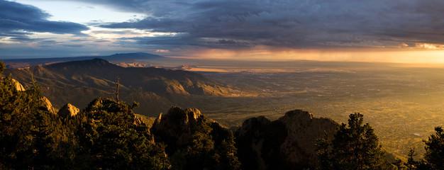Stunning Vista of Albuquerque at Sunset, from the Sandia Peak