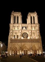 Notre Dame de Paris cathedral with some tourists