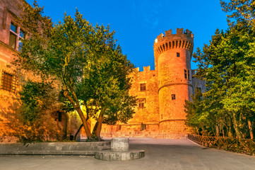 Rhodes, Greece - Palace of the Grand Master Knights