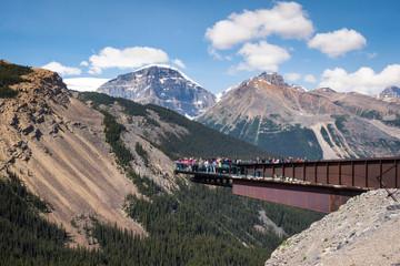 Glacier Skywalk in Jasper National Park, Alberta, Canada.