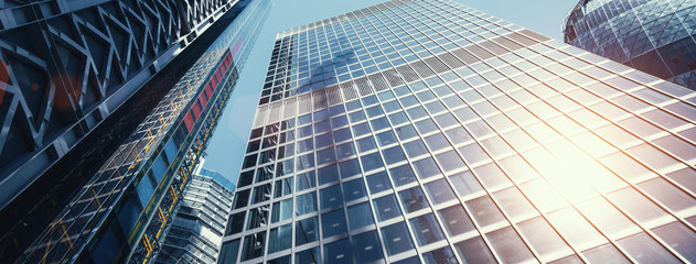 modern office buildings skyscraper in London city