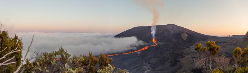 Erupcja Piton de la Fournaise im Sep. 2016