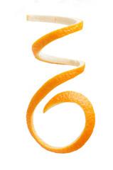spirala skórki pomarańczowej na białym tle