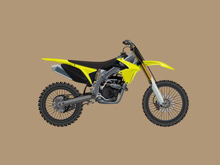 Sport moto offroad technical model. Vector icon