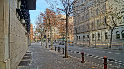 Barcelona, Spain. Walking through the streets of European cities