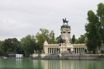 "Monument to Alfonso XII in the Parque del Buen Retiro ""Park of the Pleasant Retreat"" in Madrid, Spain"