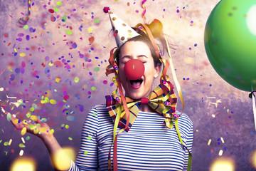 Karneval Frau Fasching Freude