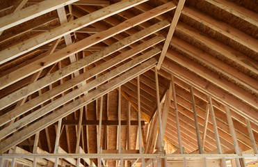 New Home House Construction Framing Lumber Builders Carpentry Craftsman.