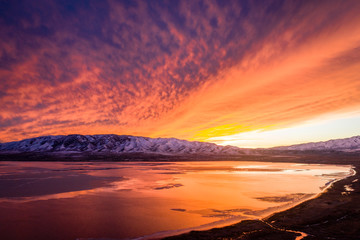 Utah Lake Sunset January 3