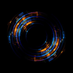 Żywe streszczenie tło. Piękny design ramy obrotowej. Portal mistyczny. Soczewka z jasną kulą. Linie obrotowe. Świecący pierścień. Magiczna neonowa kula. Led zamazany wir. Spiralne linie połysku.