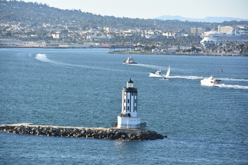 Angels Gate Lighthouse off San Pedro in California