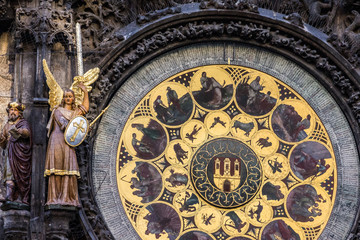 Prague. Astronomical Clock in Old Town, Czech Republic.