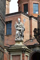 Saint Petronius statue in Bologna, Italy