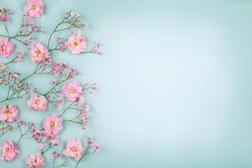 Floral composition with spring flowers for Easter