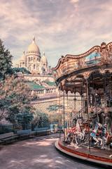 Carousel near the Sacre Coeur in Paris