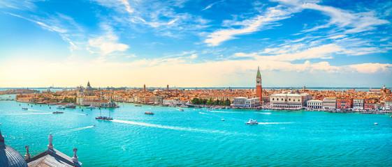 Widok z lotu ptaka Canale Grande w Wenecji. Włochy