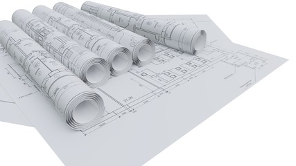 Architectural drawings. Flat and rolled