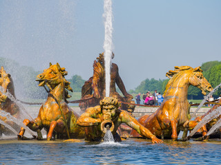 The beautiful Apollo Fountain of Place of Versailles