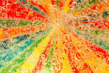 Multicolor streszczenie tło z bąbelkami. Tło psychodeliczne