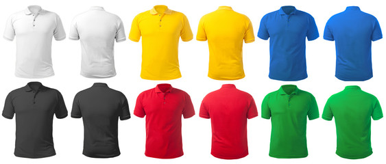 Collared Shirt Design Template in Many Color