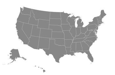 USA map. Vector illustration.