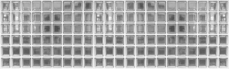Panorama of glass block wall pattern and seamless background
