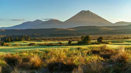 Cone volcano,sunrise,Mount Ngauruhoe,New Zealand 33