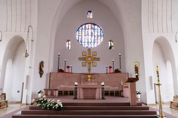 Main altar in the Saint Lawrence church in Kleinostheim, Germany
