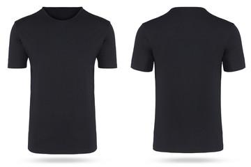 T-Shirt freigestellt schwarz hollow man neutral rundhals