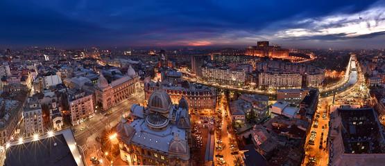 Bucharest panoramic view skyline , Romania