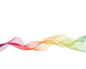 Colorful wave line illustration