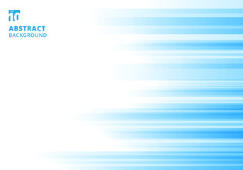 Abstract motion geometric shiny bright blue overlapping technology concept on white background with copy space.