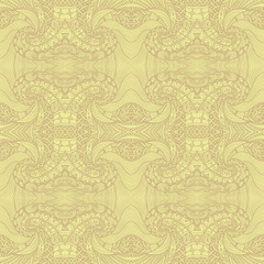 Abstract Zen tangle Zen doodle seamless pattern  in beige for wallpaper or for decoration different things