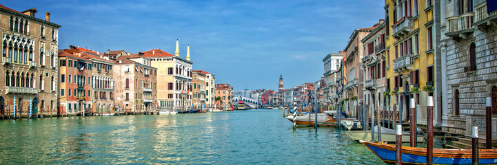 Panorama of the Grand Canal in Venice, Italy