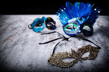 Przebranie na bal karnawałowy, maska wenecka.