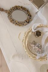wedding dress in luxury interior