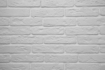 the background of the white brick wall